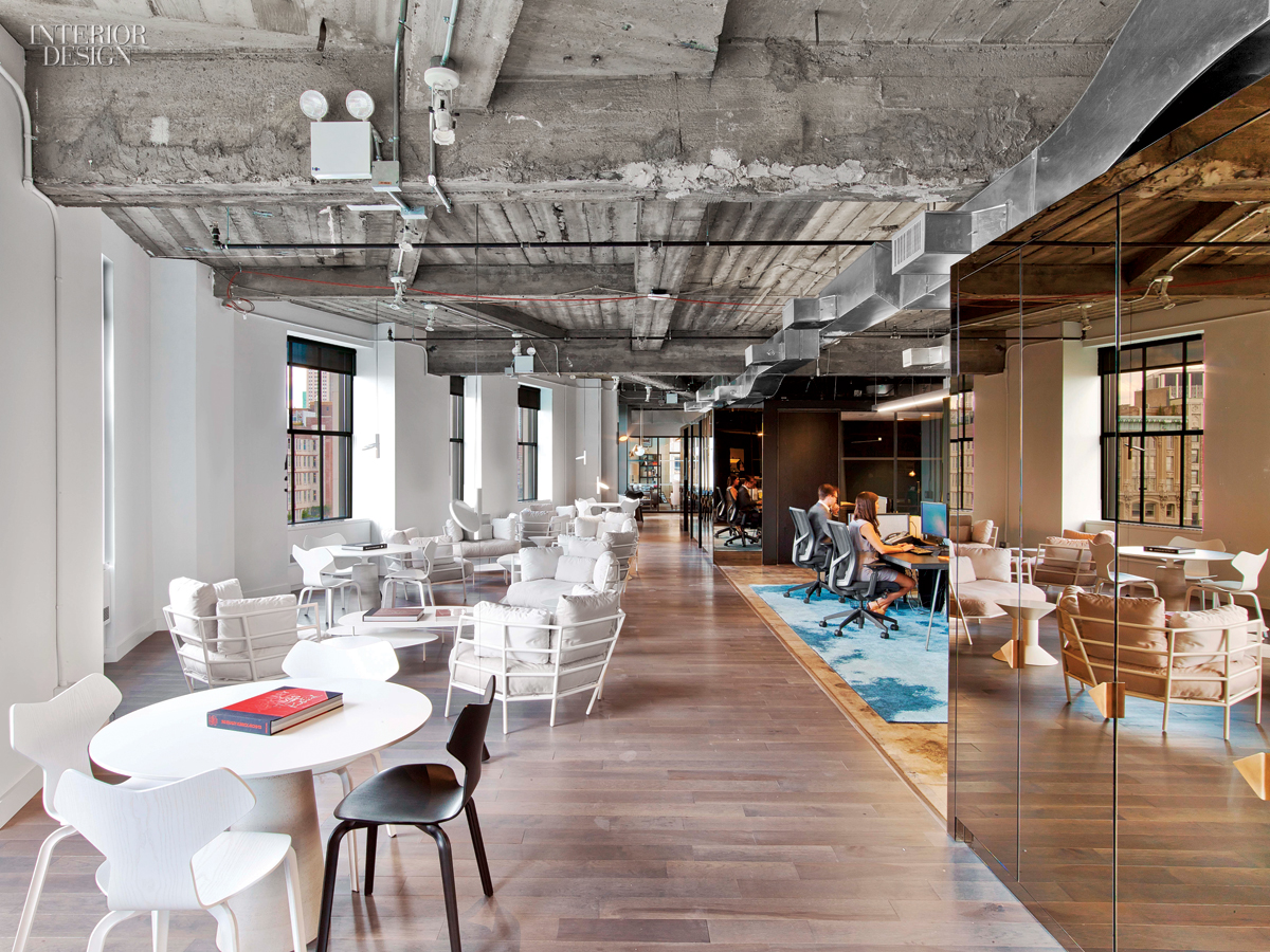 Wme img 39 s office by the rockwell group lets talent shine for Interior design office new york