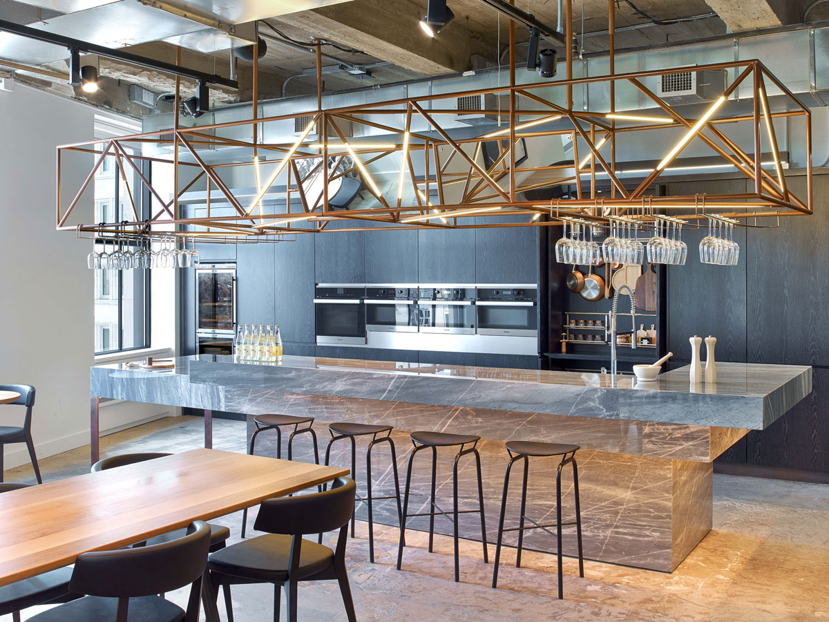 Wme img 39 s office by the rockwell group lets talent shine for Commercial interior design nyc