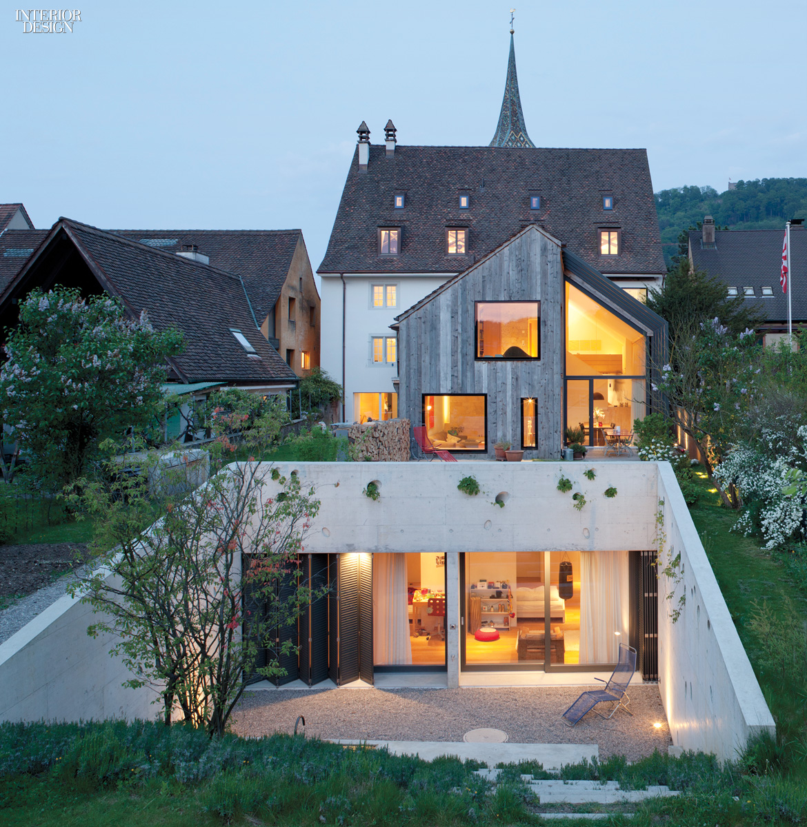 In Muttenz, Switzerland, A 1743 Farmhouse And Its Stone And Stucco Facade  Have Been Restored By And Converted Into The European Office Of Oppenheim  ...