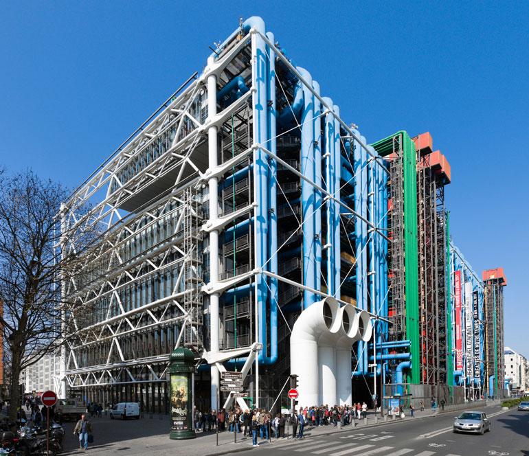 Exterior view of Centre Pompidou, Paris, France. Photography by Ian Dagnall Alamy.