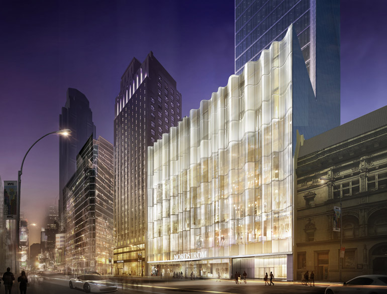Nyc S First Nordstrom Will Feature An Elaborate Glass