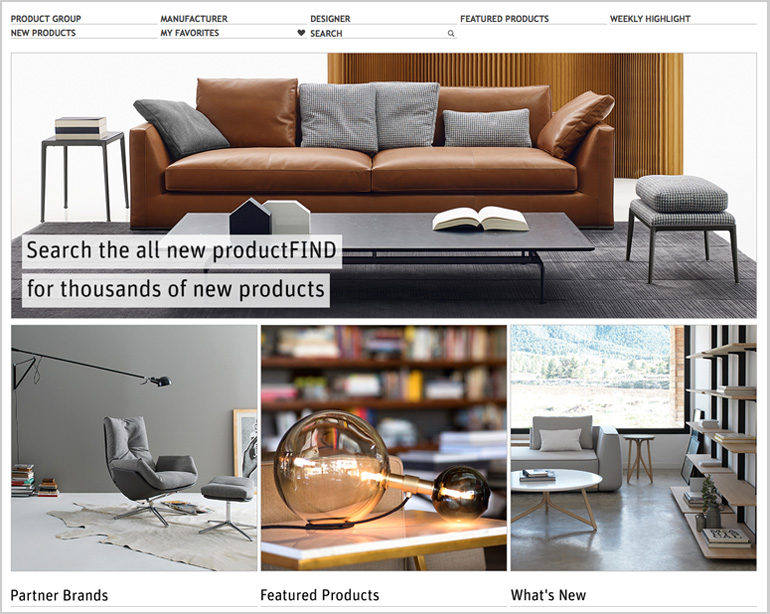 SANDOW Announces Interior Design and Architonic Partnership