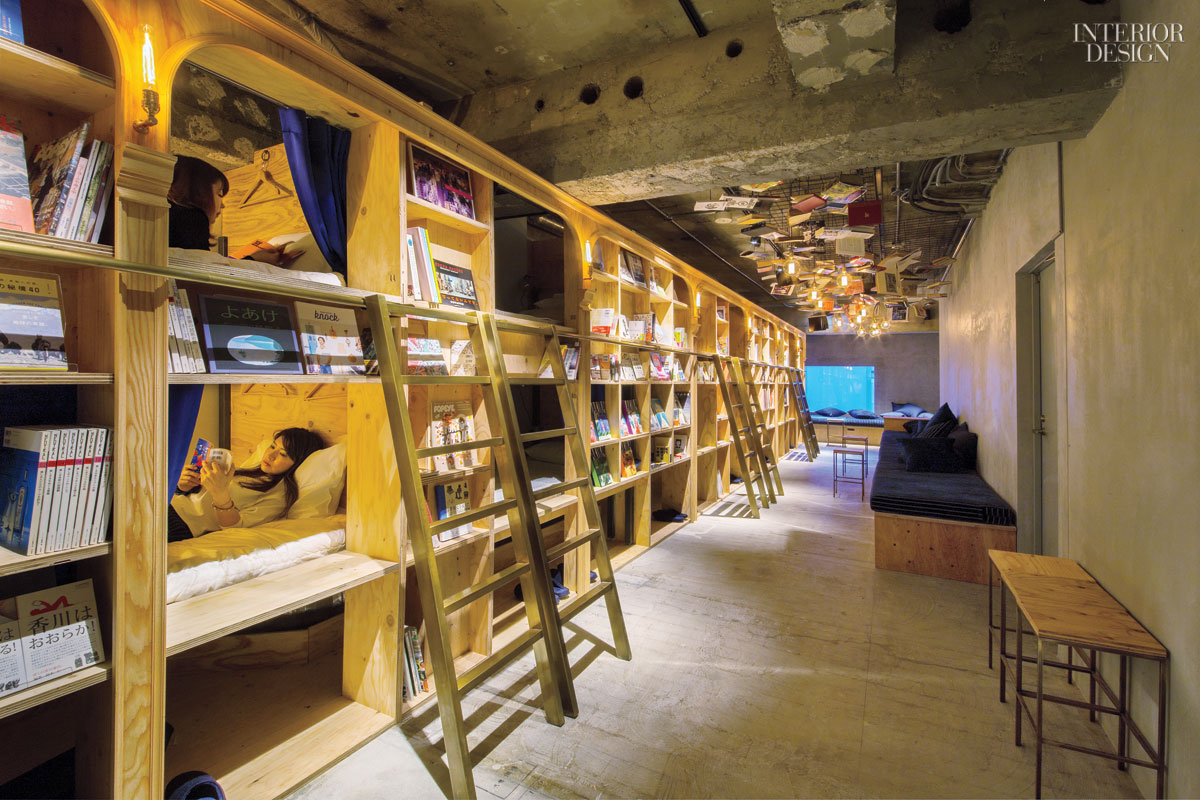 A Tokyo Hostel Surrounds Bunk Beds With Plywood Shelves