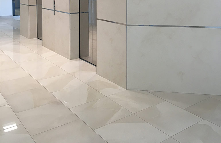 Porcelain Tile Panels Create a Wall-to-Wall Transformation for an ...