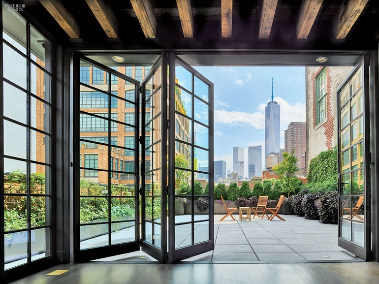 Oda new york designs tribeca penthouse for New york interior designer