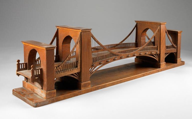 suspension bridge bookshelf