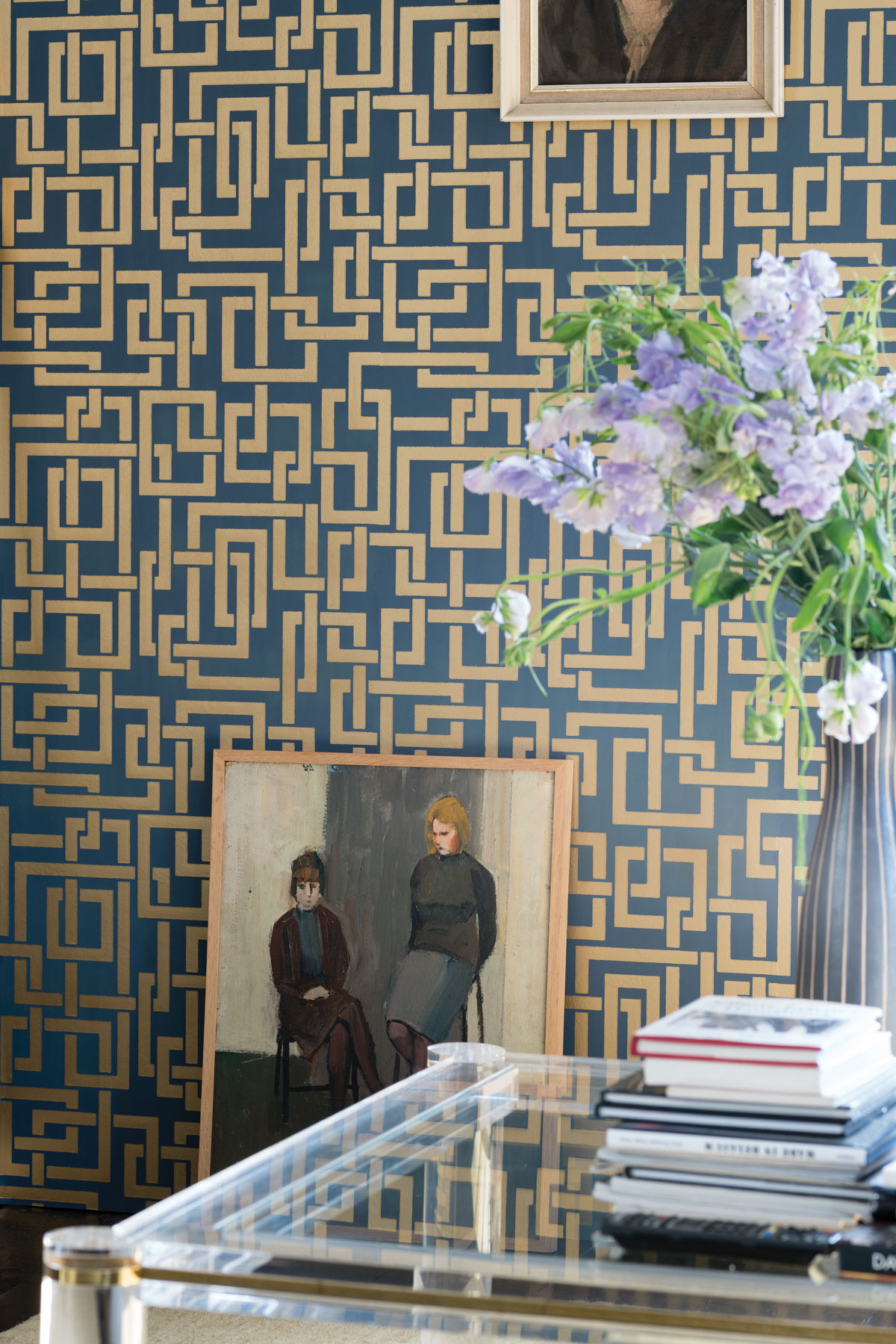 farrow ball channels the 1940s in latest wallpaper collection. Black Bedroom Furniture Sets. Home Design Ideas