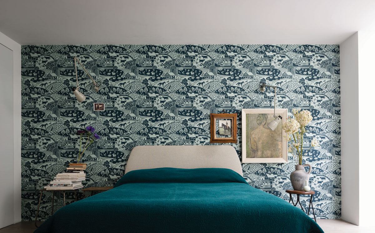 Farrow ball channels the 1940s in latest wallpaper - Papier peint salon salle a manger ...