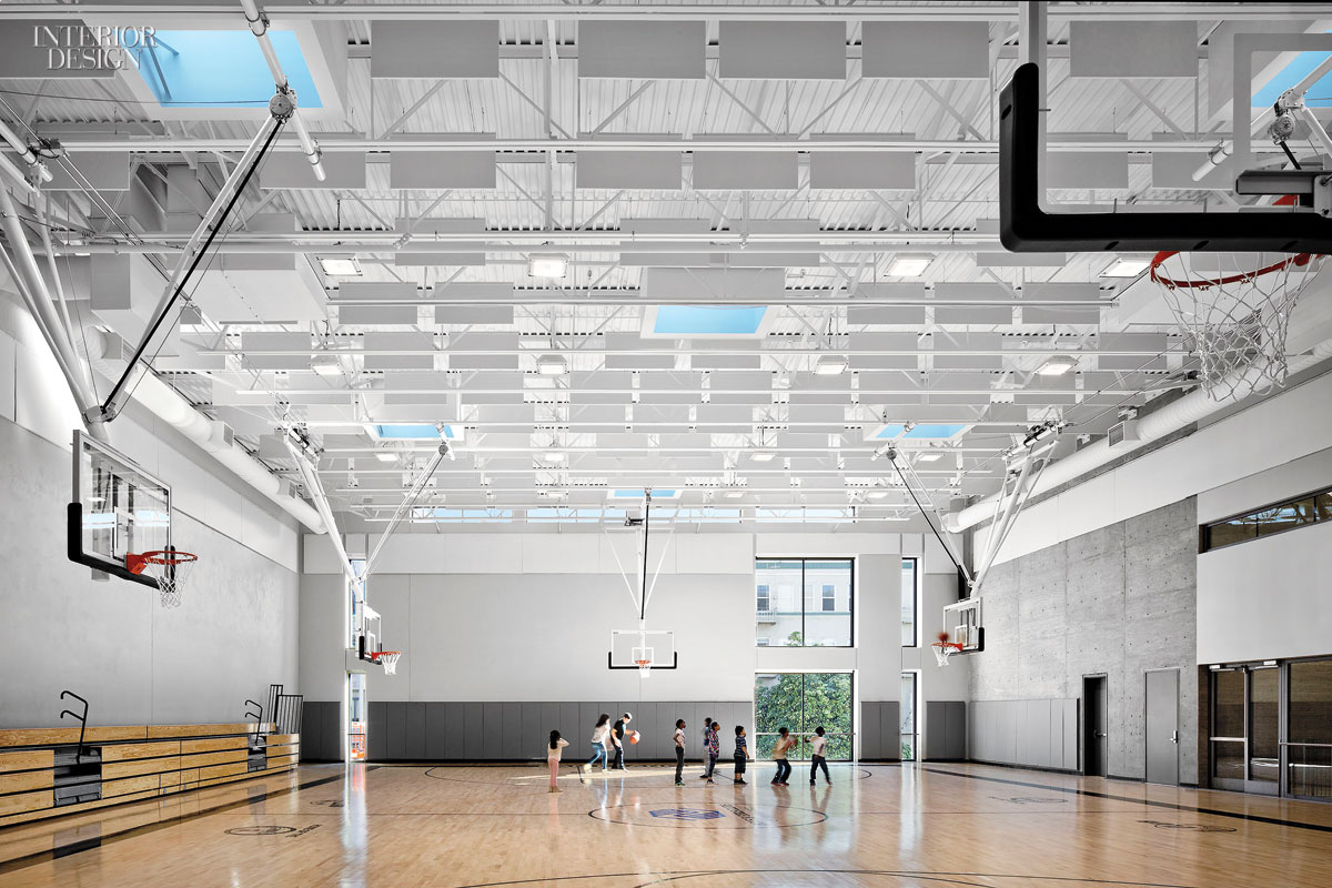 TEF Design made the gym the single largest space at the Boys & Girls Clubs of San Francisco's Don Fisher Clubhouse.