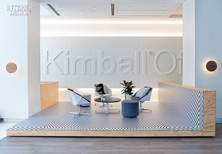 studio o a creates colorful nooks for kimball office s chicago showroom