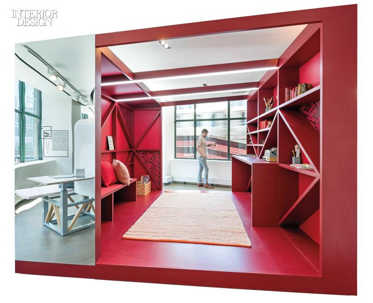 Studio oa designs Capital Interiorzinecom Studio Oa Creates Colorful Nooks For Kimball Offices Chicago Showroom