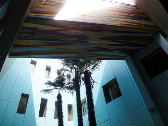 The Abet Laminati museum's exterior by architect Matteo Scalise.