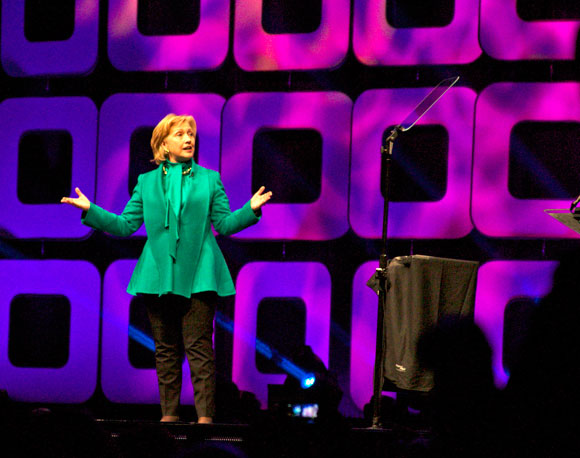 Hillary Clinton Greenbuild Stage