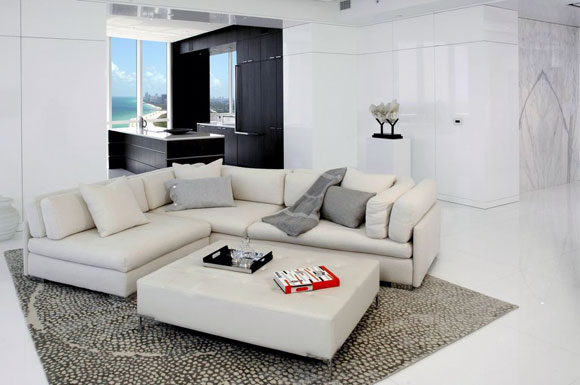 The Living Room Of A Trump Tower III Residence In Sunny Isles Beach Florida
