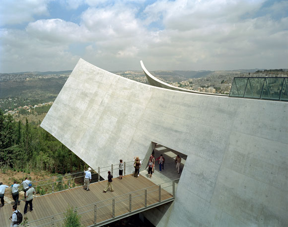 Safdie's Yad Vashem Holocaust Museum in Jerusalem. Photo by Timothy Hursley.