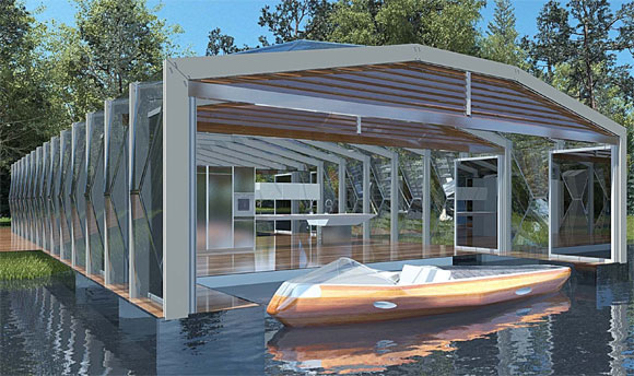 rhed built by Poliform Boat House Pavilion