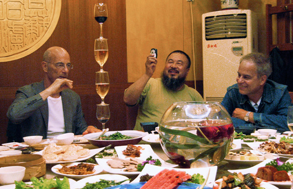 Jacques Herzog, Ai Weiwei, and Pierre de Meuron © 2008 by T&C Film AG