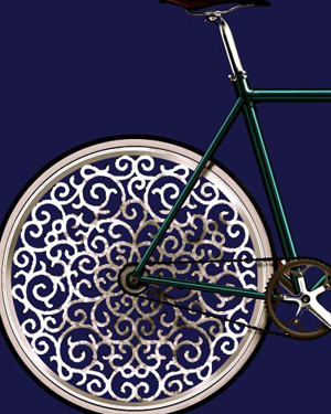 A Marcel Wanders bicycle Melanie Flos YLighting