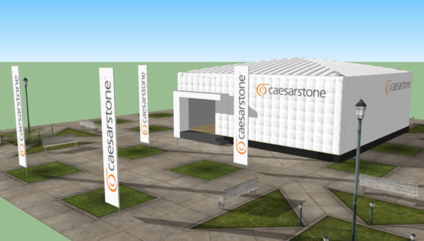 A rendering of Caesarstone's pop-up initiative.