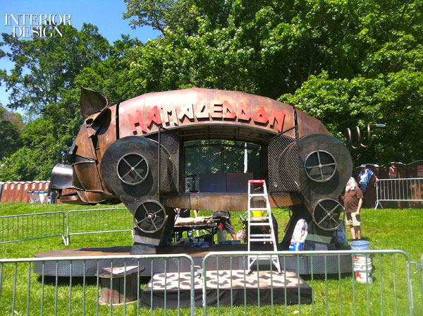 The festival's Hamageddon pig roaster was created by Charlie Smith of Sparseland Studios and his crew in Atlanta.