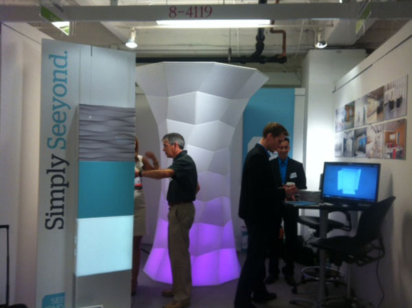Seeyond's first-ever booth at NeoCon on the Mart's 8th floor.