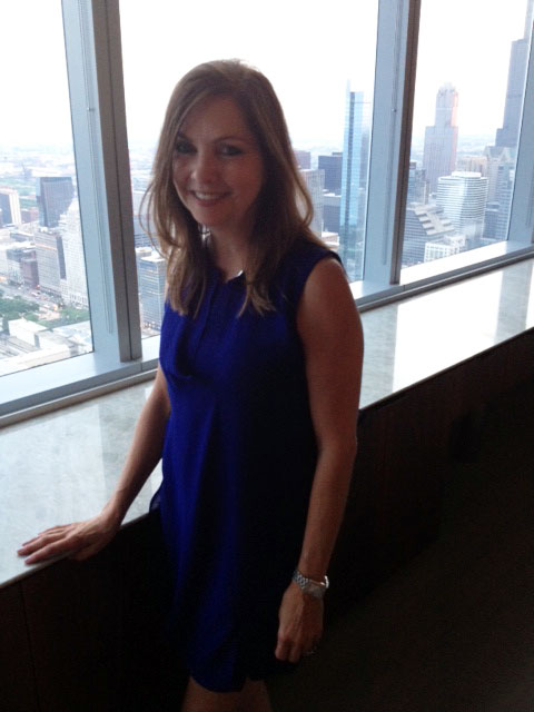 Rottet Studio's Lauren Rottet at Interior Design's party at the Baker & McKenzie offices in Chicago.