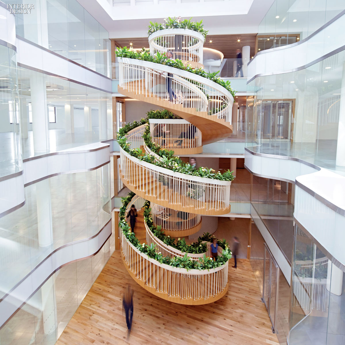 A New Twist Paul Cocksedge Designs A Living Staircase In London