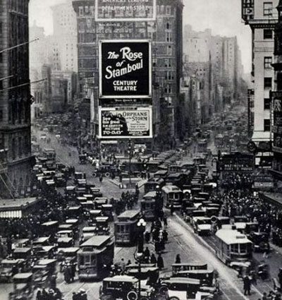 Times Square in 1902. Courtesy of ablarc on Wired New York.