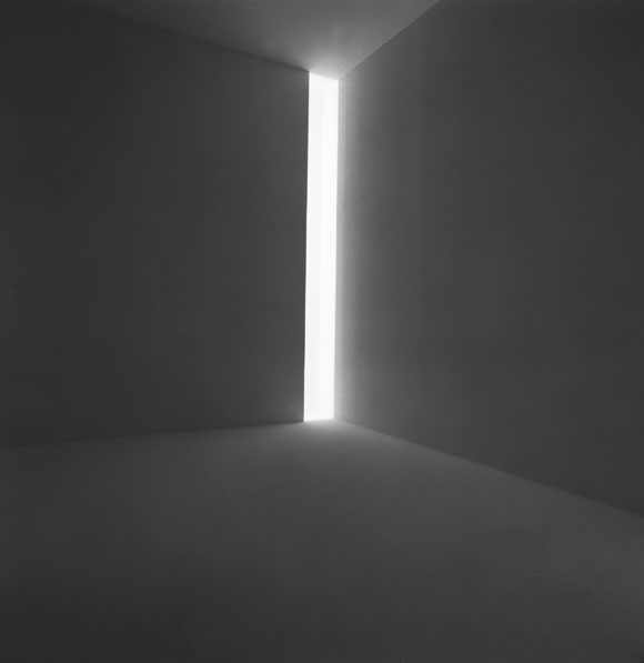 James Turrell's Ronin, 1968, fluorescent light, Collection of the artist. Photo courtesy of the Stedelijk Museum.