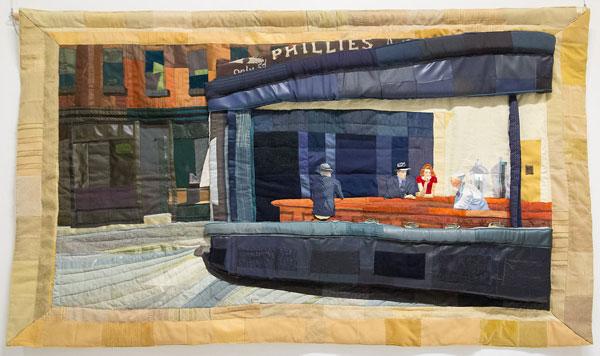 C:\fakepath\8 Nighthawks Soft Relief Lmnop Iida Quilt Auction