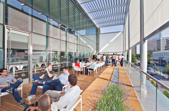 """Perkins + Will's office in Atlanta is LEED Platinum."""