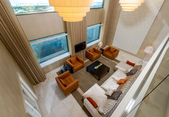The InterContinental Miami's Royal Palm Suite renovated by Vstarr Interiors.