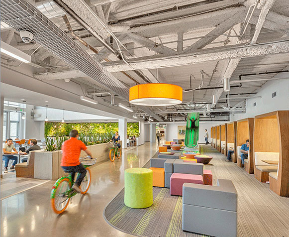 Interface reports on impact of nature in office design for Office design productivity