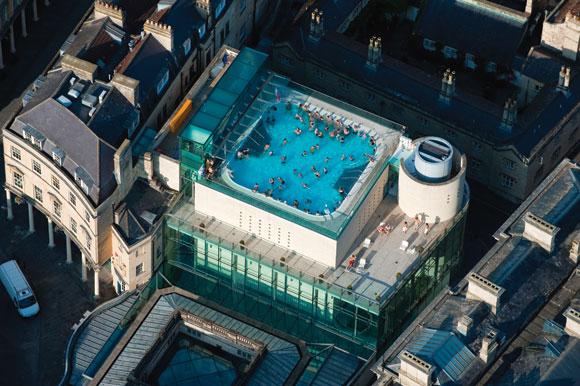Grimshaw Bath Spa in Bath, UK. Photo by Jason Hawkes.