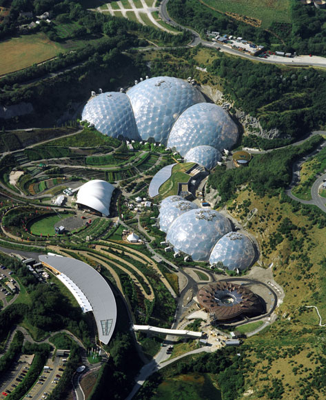 Grimshaw's The Eden Project in Cornwall, UK.