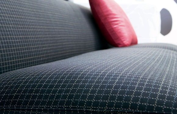 Cross Stitch features a satin weave in the ground and a heavier top yarn for the stitch.