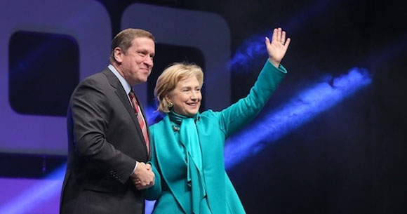 Hillary Clinton And Rick Fedrizzi
