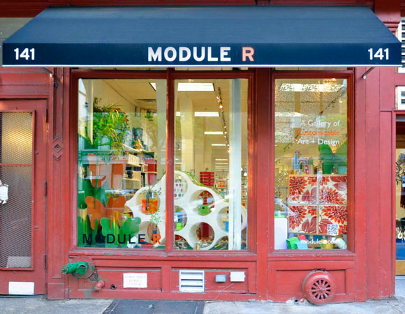 The exterior of Rattner's MODULE R shop in Brooklyn, New York.