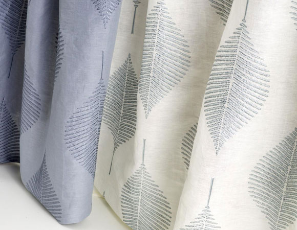 Aranya drapery fabric in linen, rayon, and cotton.