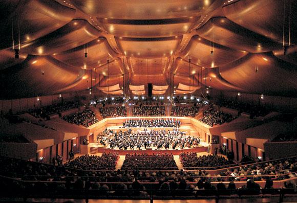 Parco della Musica Auditorium, Rome, 1994-2004. Photo by Maggi Moreno/Renzo Piano Building Workshop and Gagosian Gallery.<br>
