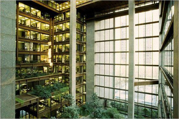 The Ford Foundation by Kevin Roche, 1977.