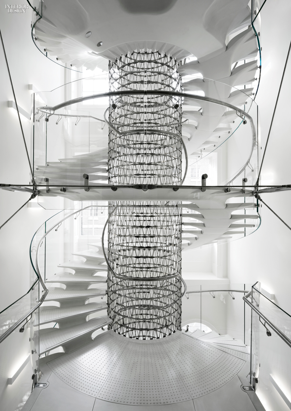 Eva jiricna 39 s uhpc stairs for london 39 s somerset house for Spiral staircase house