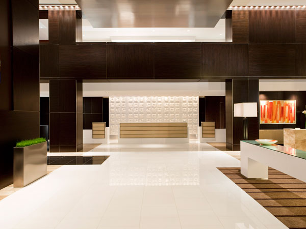 Daroff Design's reception area at the Loews Atlanta Hotel