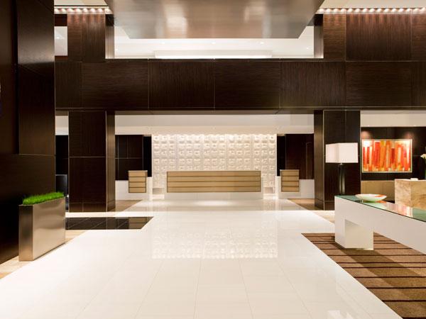 Daroff Design's reception area at the Loews Atlanta Hotel