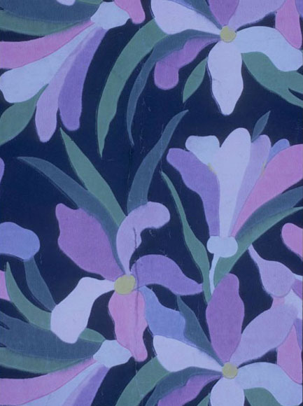 Atelier Martine, Iris, wallpaper, ca. 1912. Collection Bibliothèque Forney, Paris.