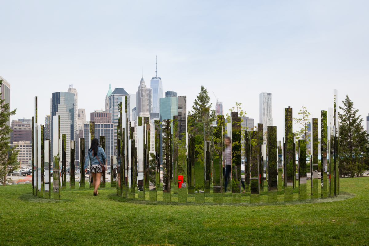 Hall Tree Ikea Jeppe Hein Wants You To Touch The Art At Brooklyn Bridge Park