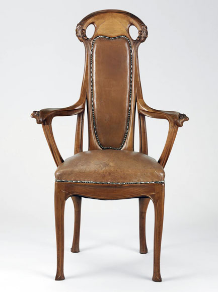"""Dining chair, ca. 1912. Hector Guimard (1867-1942). Gift of Mme. Hector Guimard, 1948. Photo courtesy of Philadelphia Museum of Art."""
