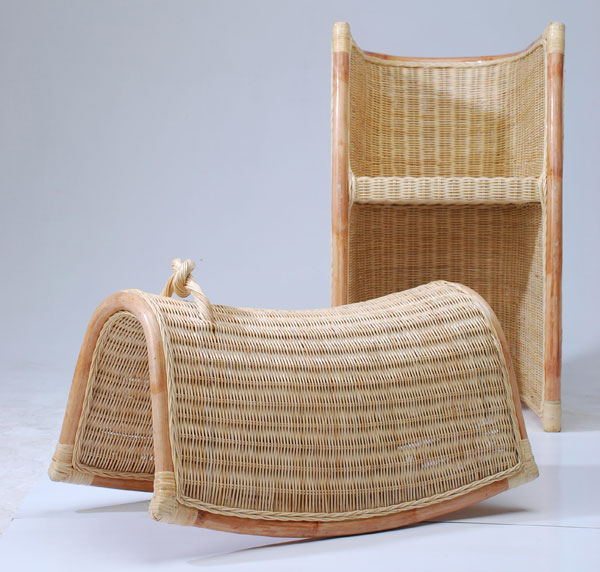"Gui Ying, ""Freeze,"" wood and resin Chair."