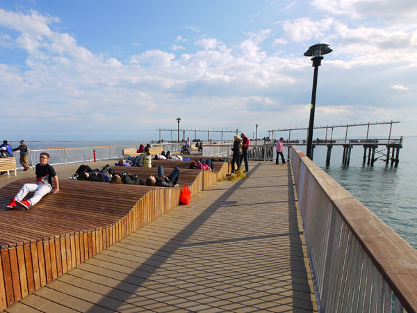 Steeplechase Pier Coney Island Rail Bench LTL Architects