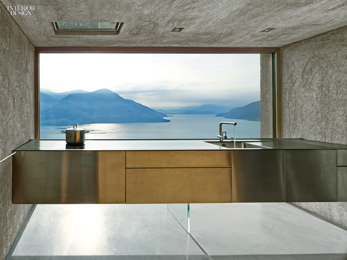 A view to a thrill swiss alps bring drama to vacation for Vacation home interior design